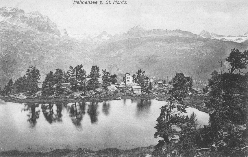 From 1910. Postcard. Switzerland Hahnensee near St. Moritz.