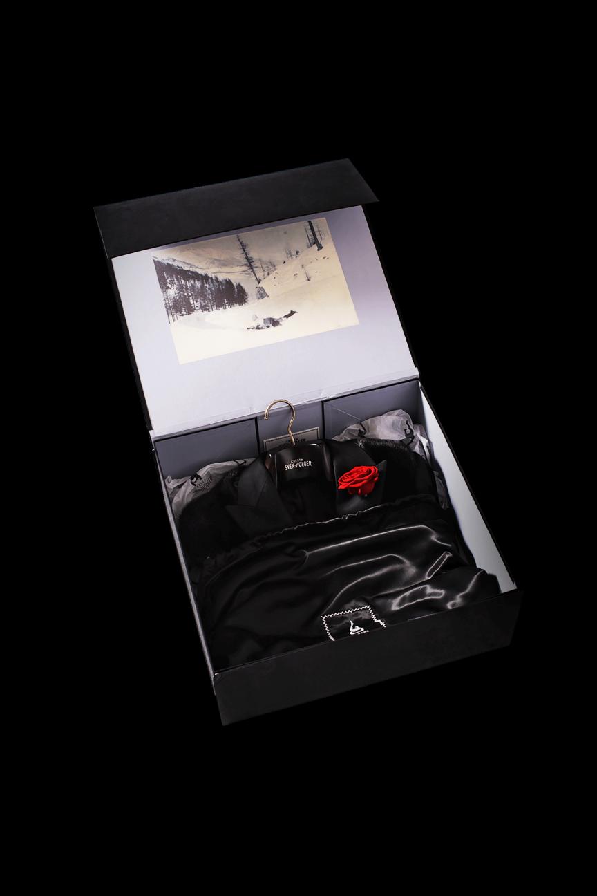 Stoffbezogene Vintage Geschenkbox