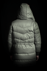 Back view cotton side with detachable hood