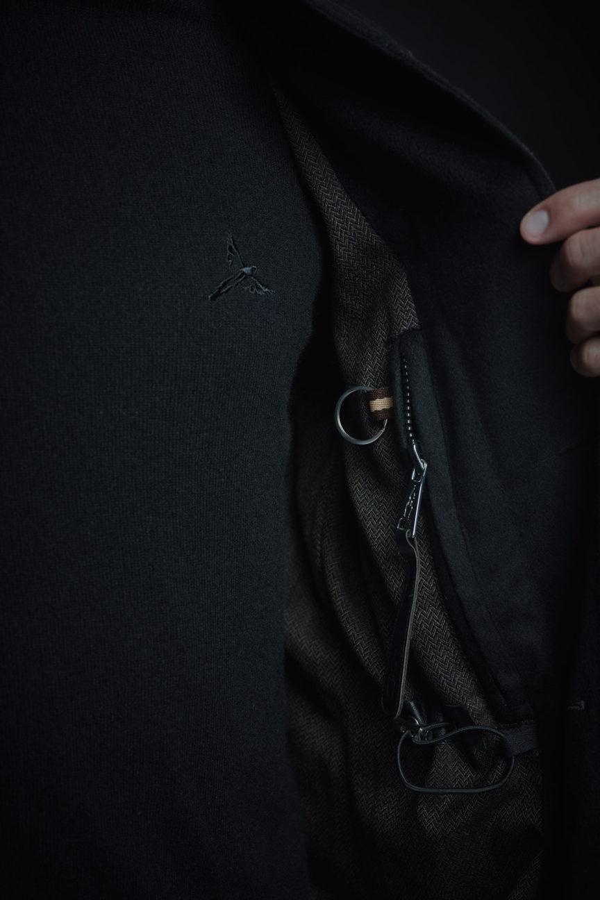 Innentasche mit Rider-Reißverschluss