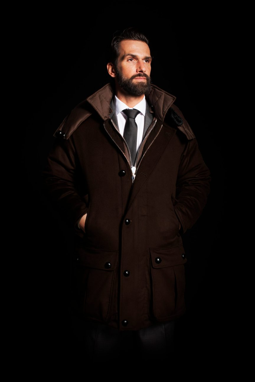 Brown Parka Cashmere front view