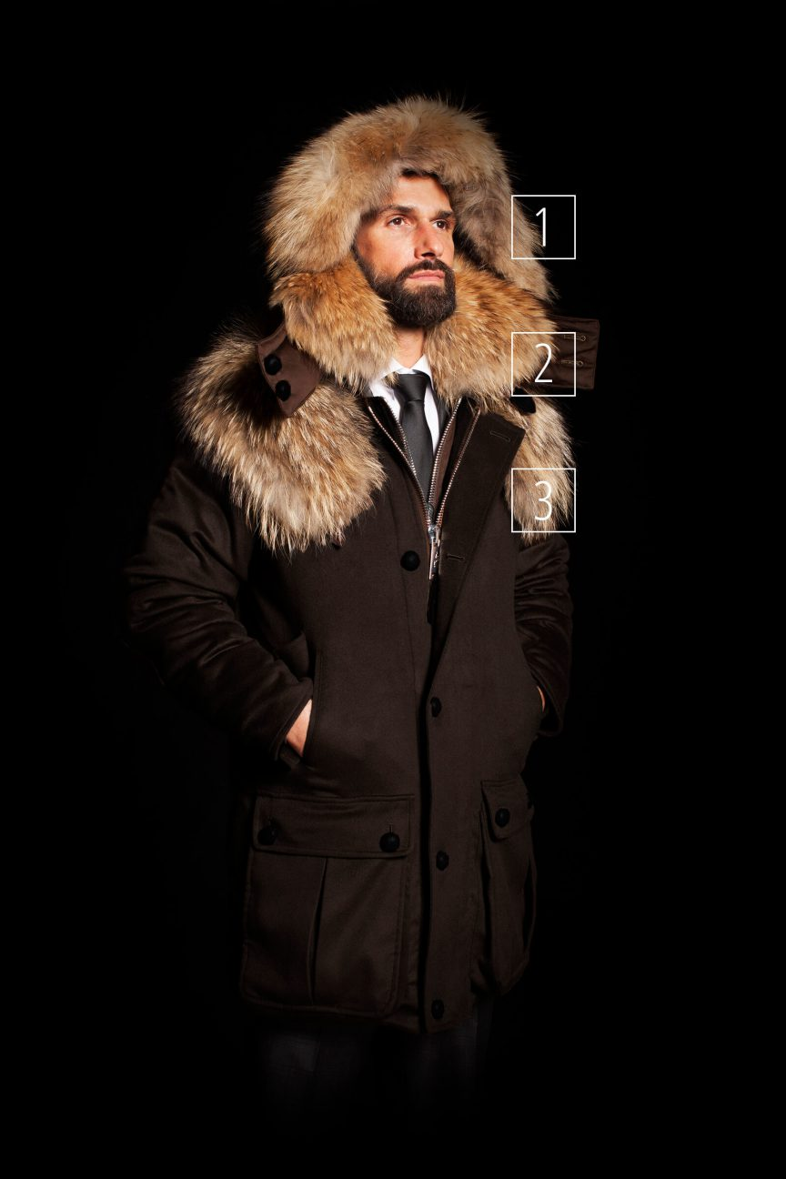 Parka Hood Coyote Fur Set