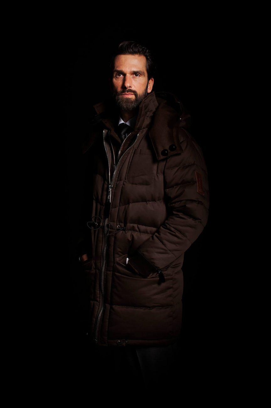 Brown Parka without Fur Set