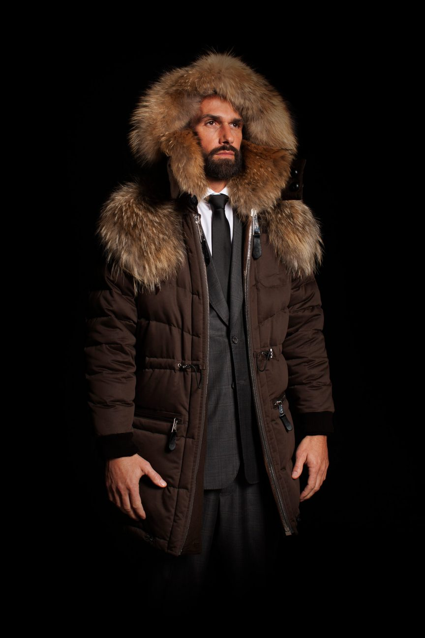 Brown Parka with Coyote Fur
