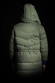 Parka back view cotton side with hood
