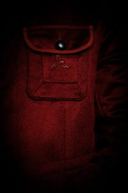 Casual Jacket Chest Pocket red S-H Cashmere