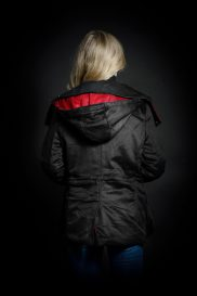 Women's Casual Jacket with hood back view