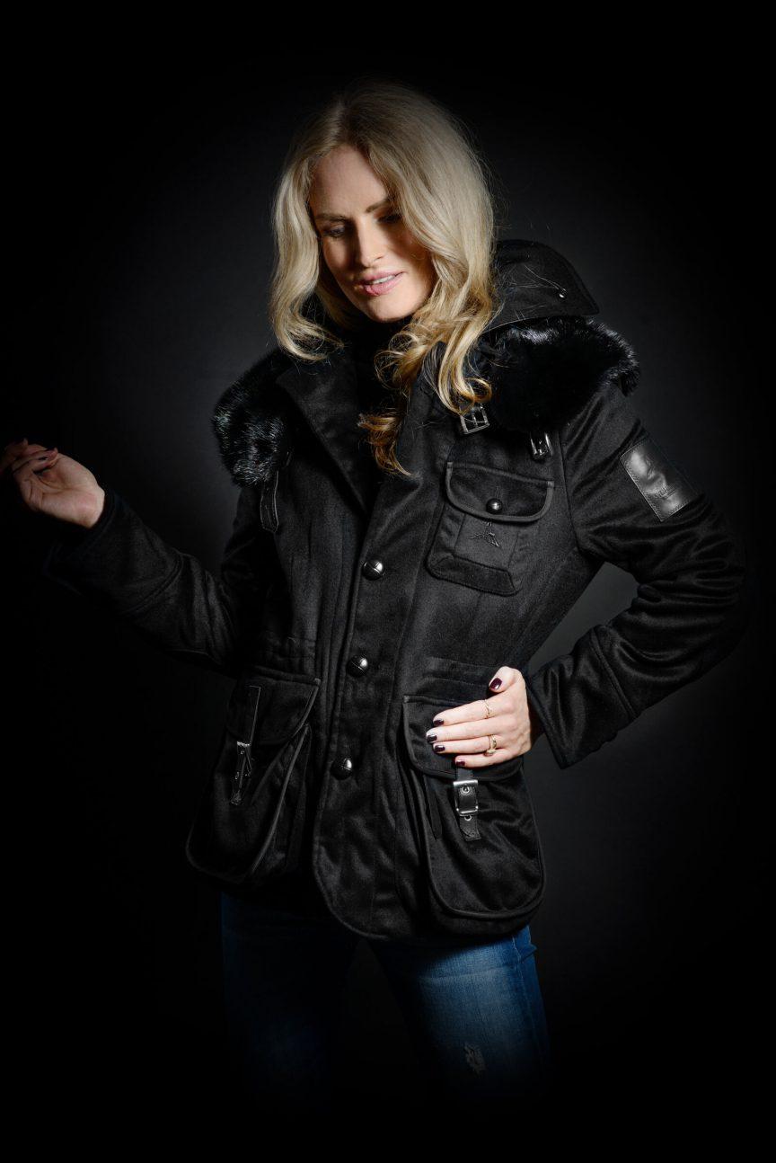 Casual Jacket Damen mit wärmenden Nerzpelz