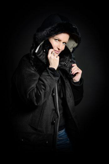 Women's Parka cashmere Mink Fur