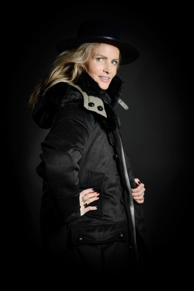 Women's Parka cashmere side Mink Fur Set