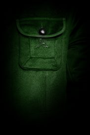 Casual Jacket Chest Pocket green S-H Cashmere
