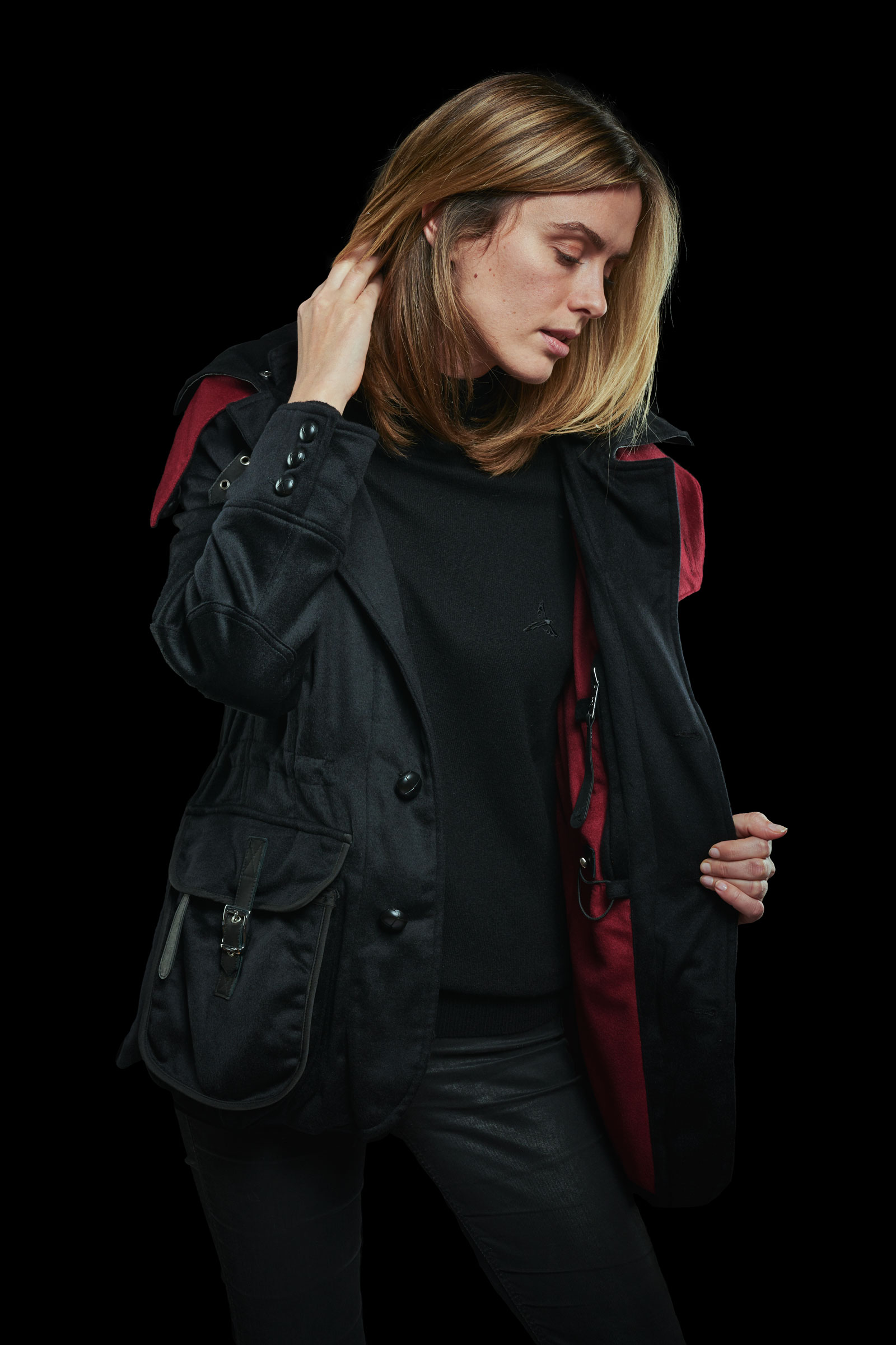 Black Cashmere Casual Jacket