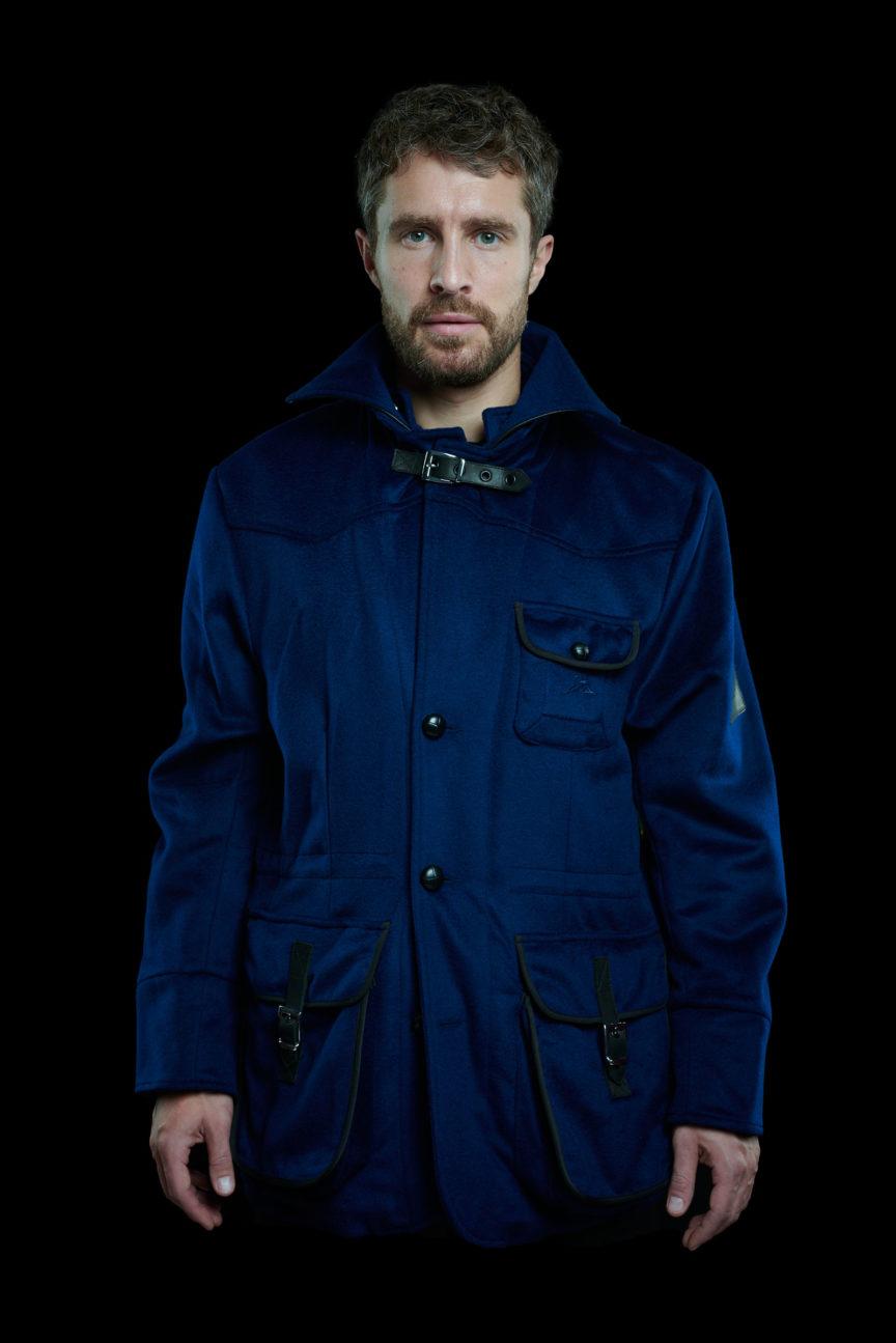 Ozeanblaues Casual Jacket ohne Kapuze