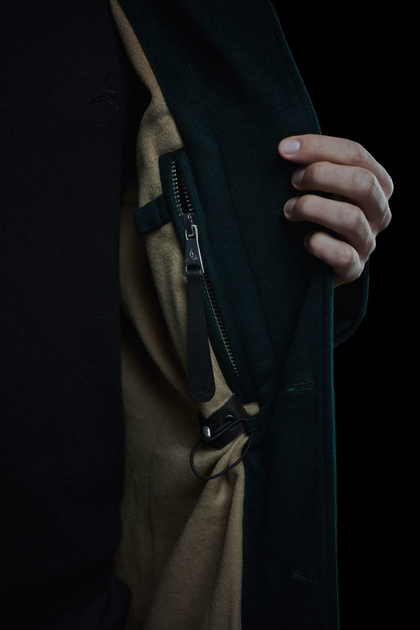 Inside pocket of Casual Jacket with pen holder